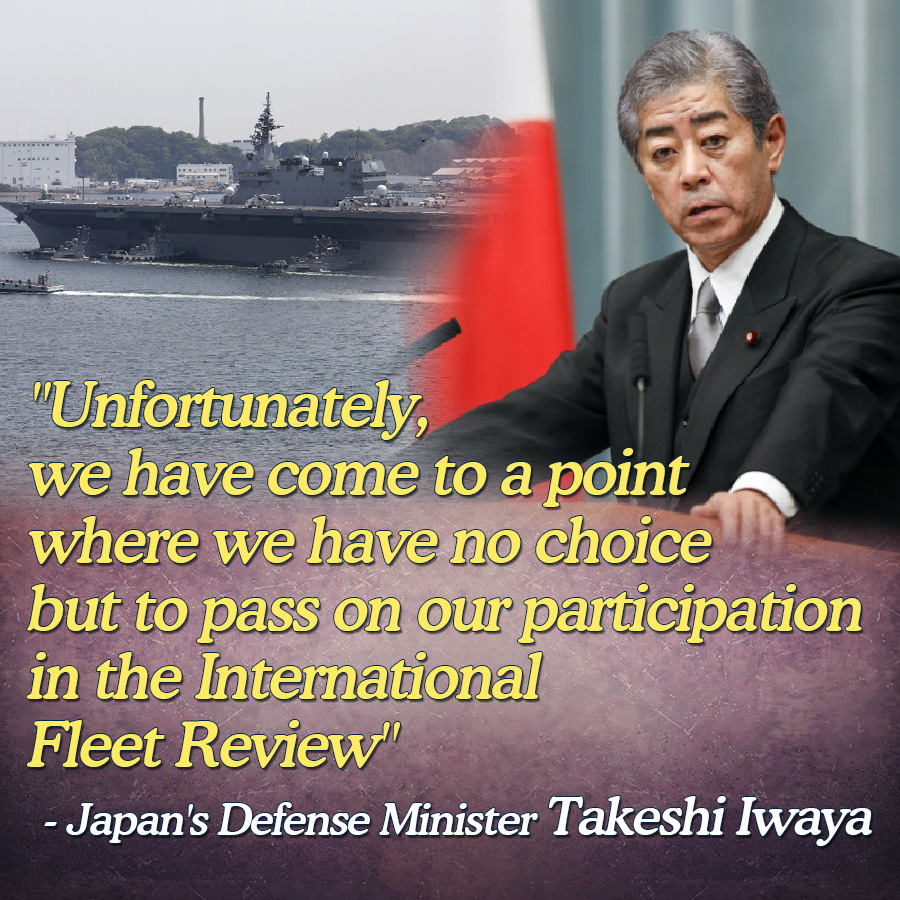"""Unfortunately, we have come to a point where we have no choice but to pass on our participation in the International Fleet Review""<br>