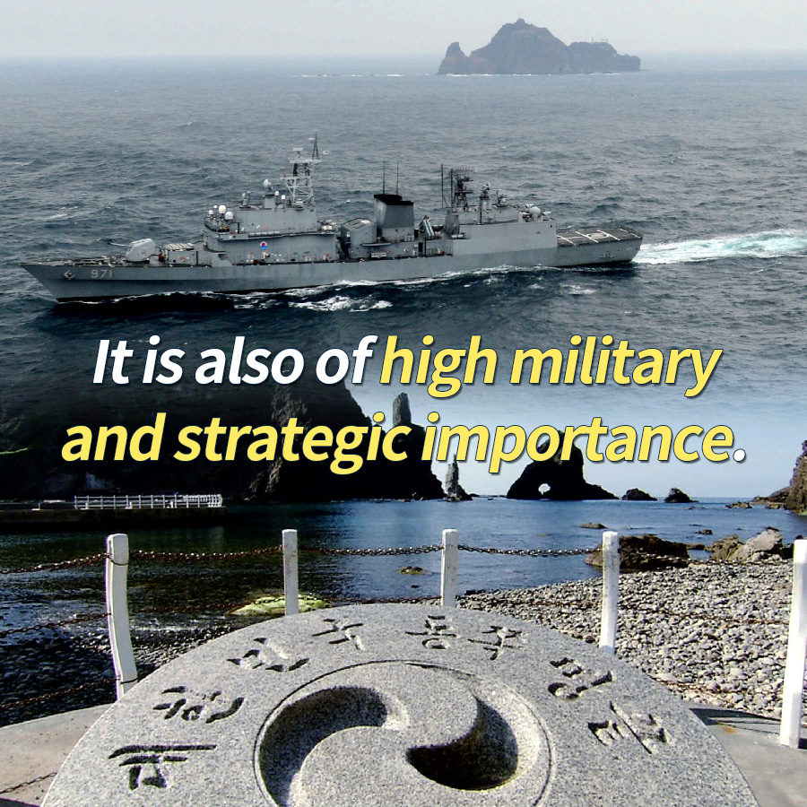 It is also of high military and strategic importance.