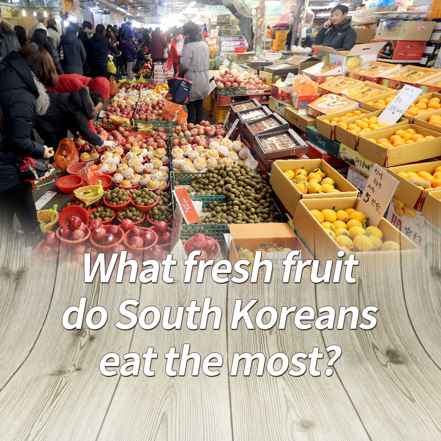 What fresh fruit do South Koreans eat the most?