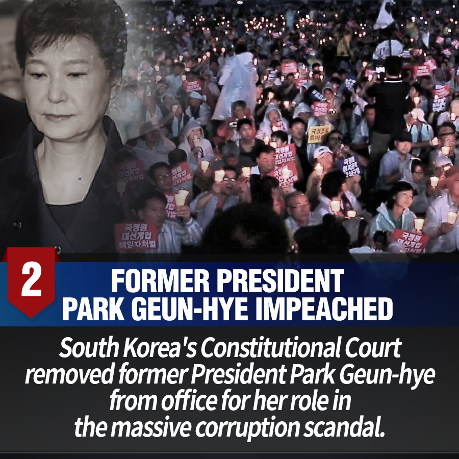 2. Former President Park Geun-hye impeached<br>