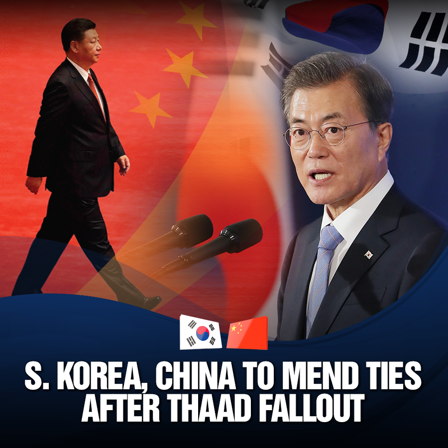 S. Korea, China to Mend Ties after THAAD Fallout