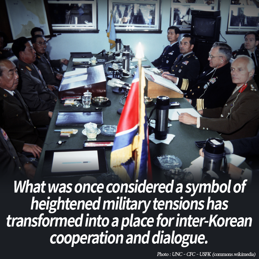 What was once considered a symbol of heightened military tensions has transformed into a place for inter-Korean cooperation and dialogue.
