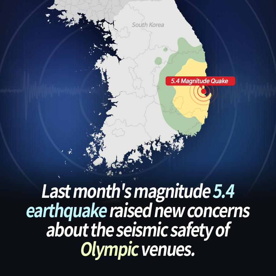 Last month's magnitude 5.4 earthquake raised new concerns about the seismic safety of Olympic venues.
