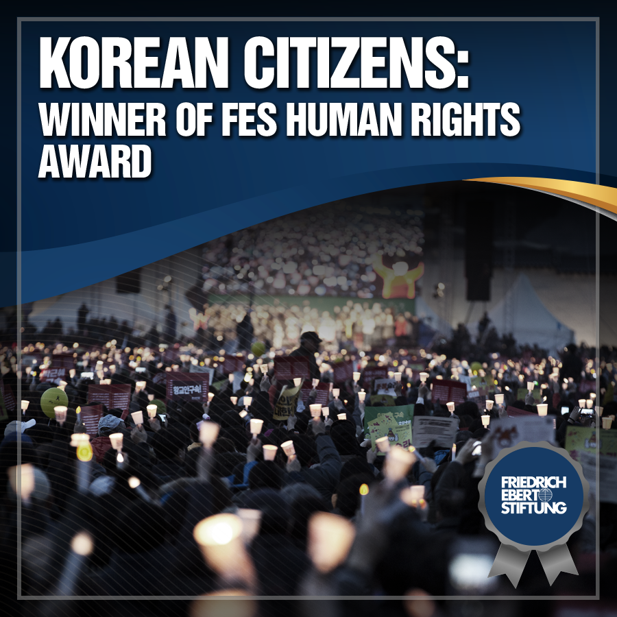 Korean Citizens: Winner of FES Human Rights Award