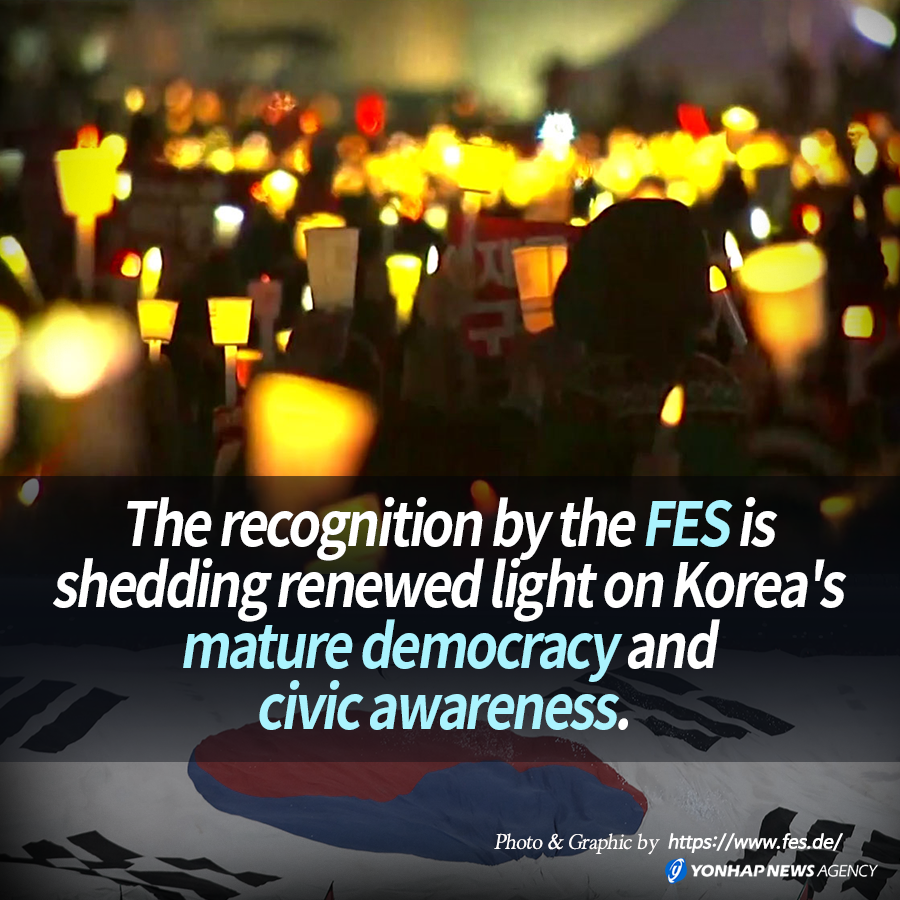 The recognition by the FES is shedding renewed light on Korea's mature democracy and civic awareness.