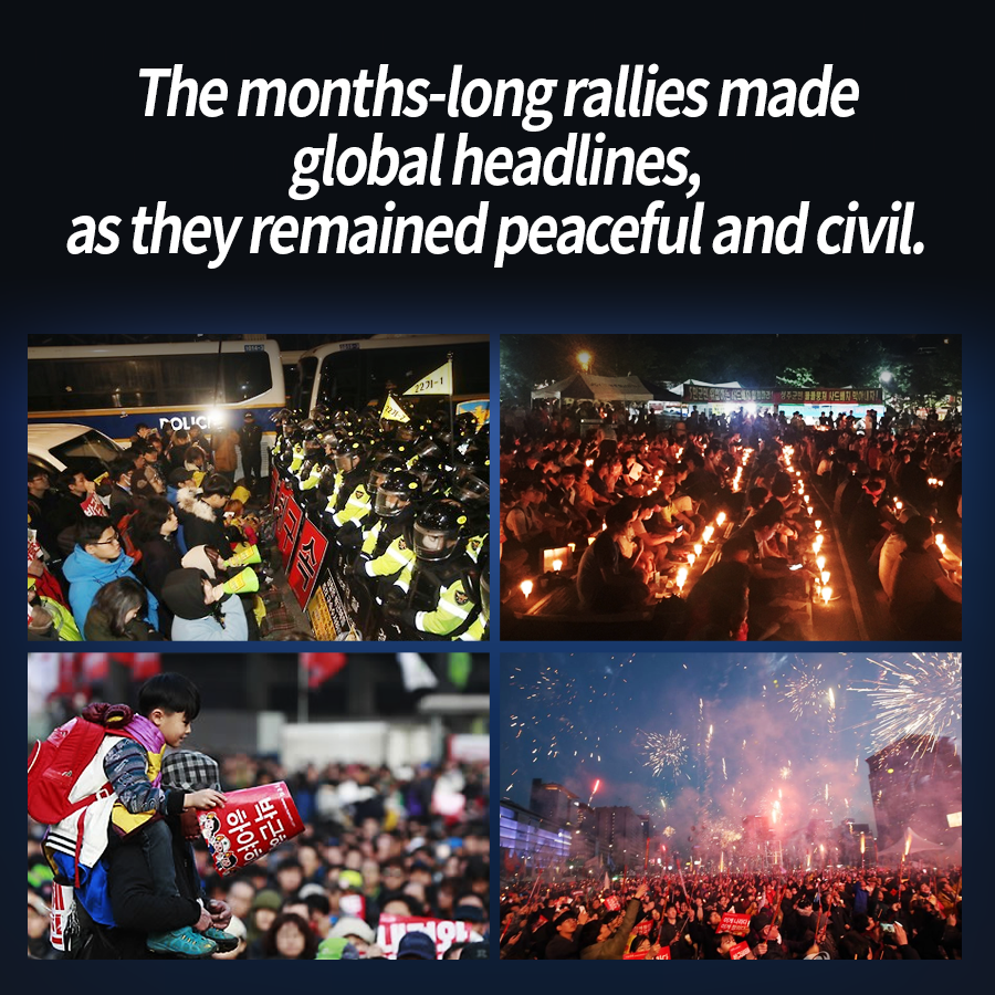 The months-long rallies made global headlines, as they remained peaceful and civil.