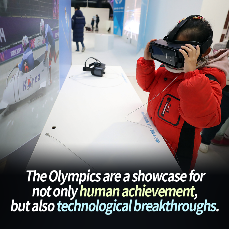 The Olympics are a showcase for not only human achievement, but also technological breakthroughs.