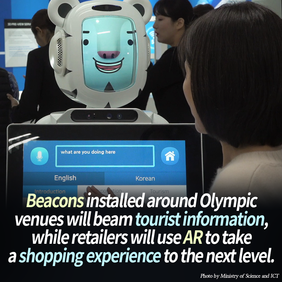 Beacons installed around Olympic venues will beam tourist information, while retailers will use AR to take a shopping experience to the next level.
