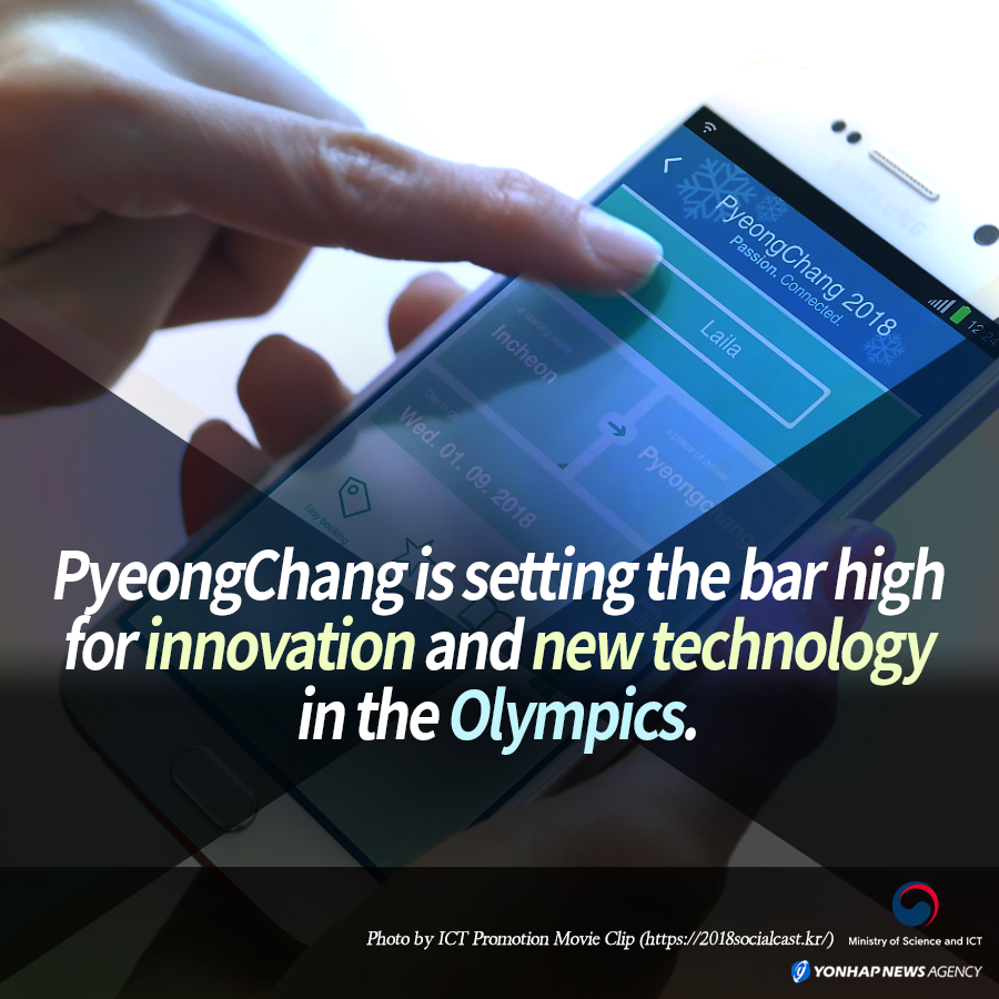 PyeongChang is setting the bar high for innovation and new technology in the Olympics.