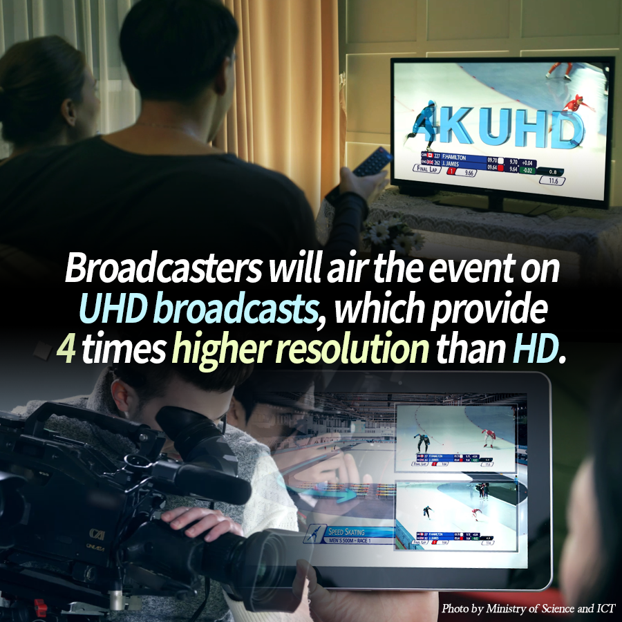Broadcasters will air the event on UHD broadcasts, which provide 4 times higher resolution than HD.