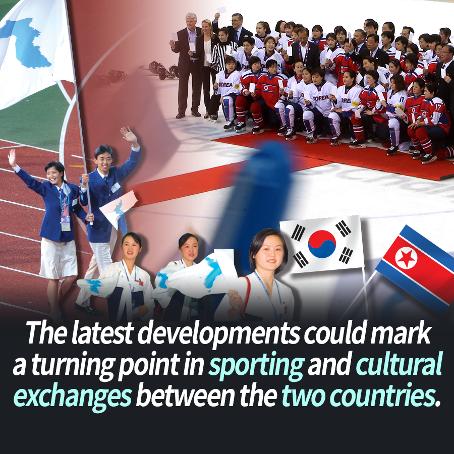 The latest developments could mark a turning point in sporting and cultural exchanges between the two countries.