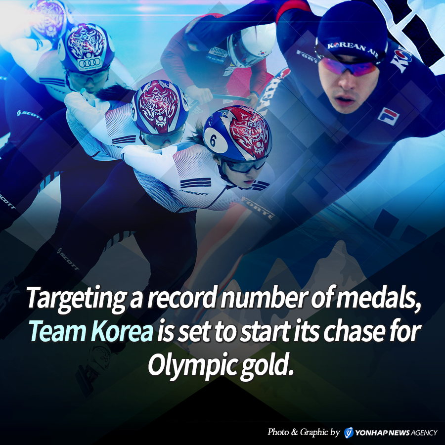 Targeting a record number of medals, Team Korea is set to start its chase for Olympic gold.