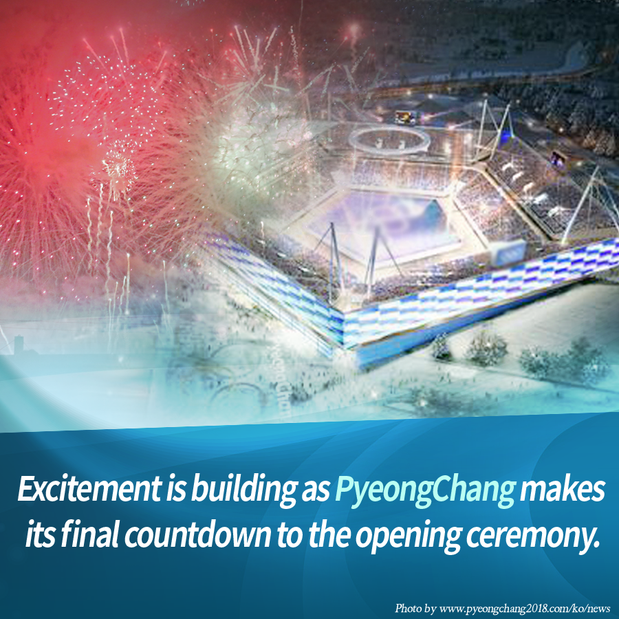 Excitement is building as PyeongChang makes its final countdown to the opening ceremony.
