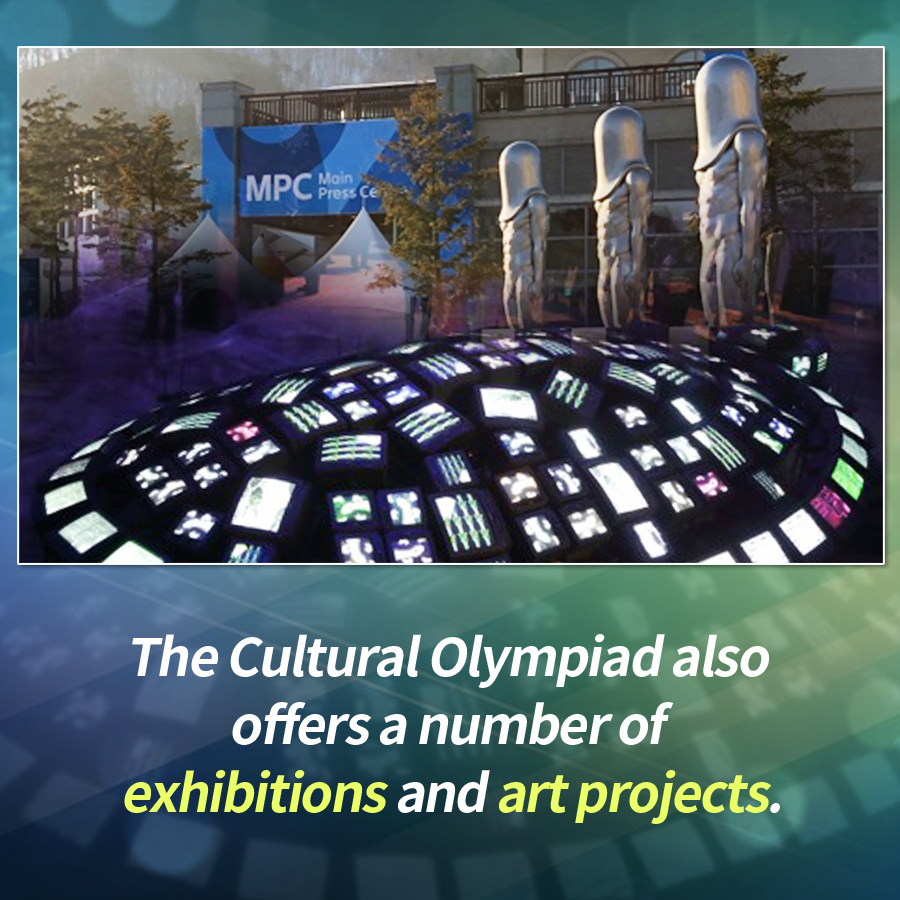 The Cultural Olympiad also offers a number of exhibitions and art projects.