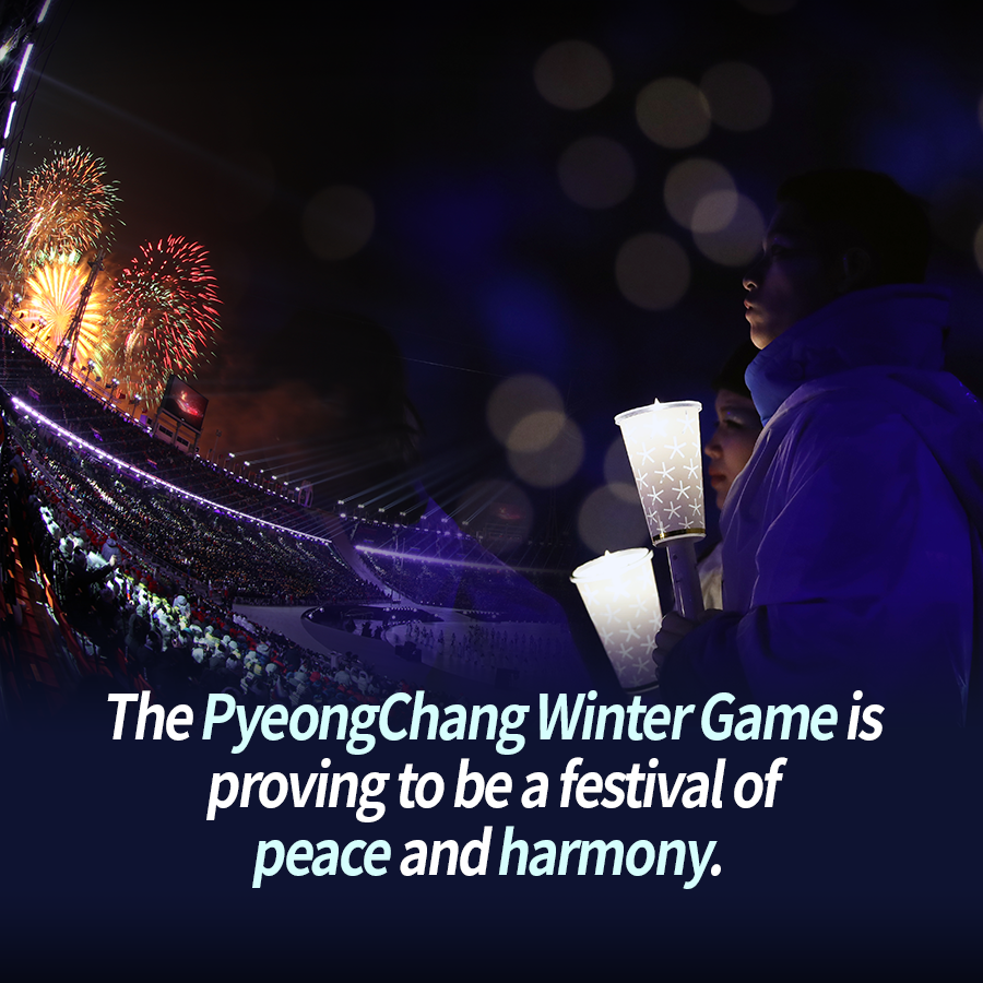The PyeongChang Winter Games is proving to be a festival of peace and harmony.