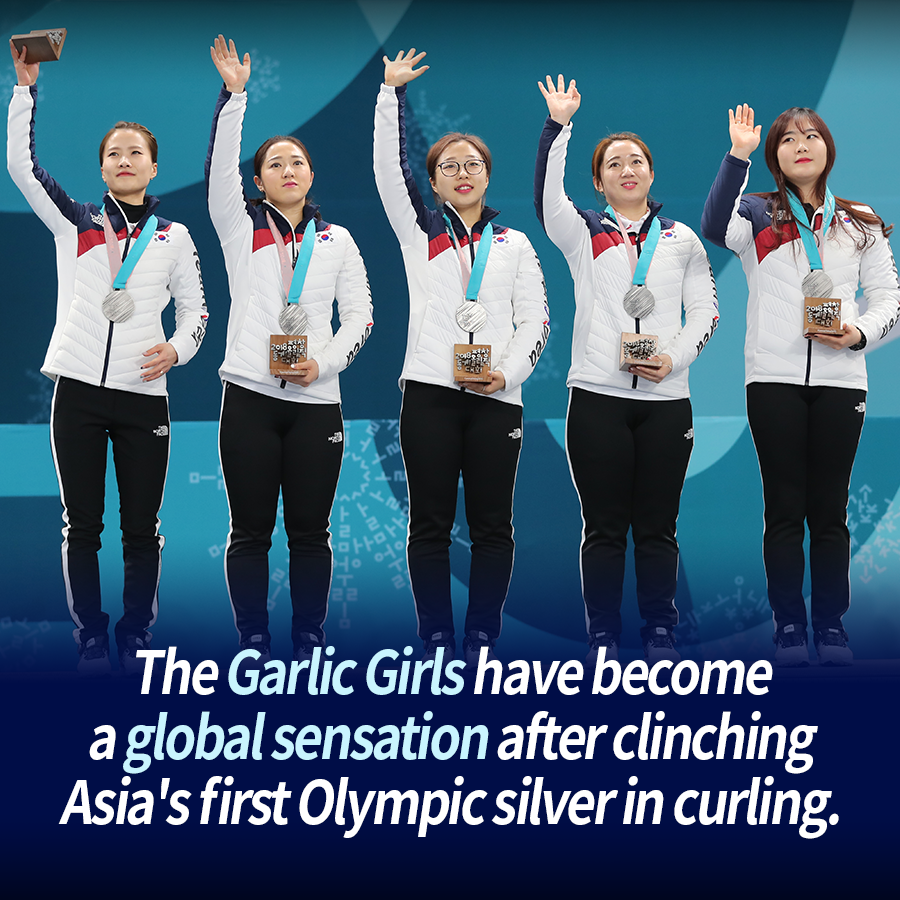 The Garlic Girls have become a global sensation after clinching Asia's first Olympic silver in curling.