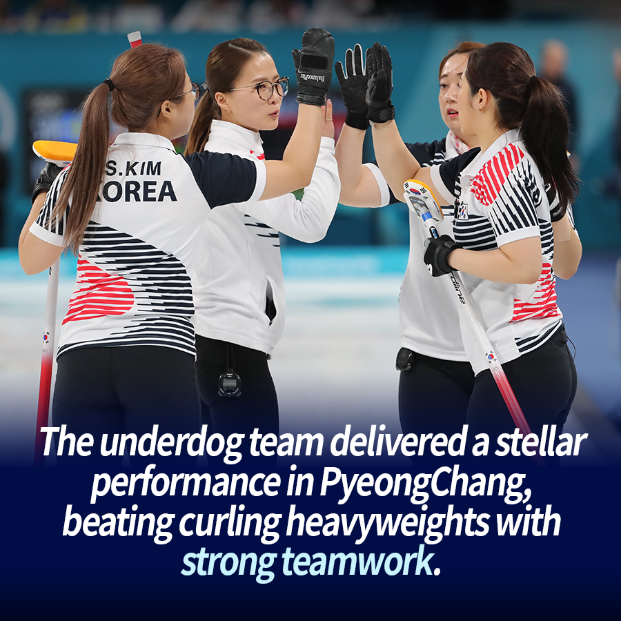 The underdog team delivered a stellar performance in PyeongChang, beating curling heavyweights with strong teamwork.