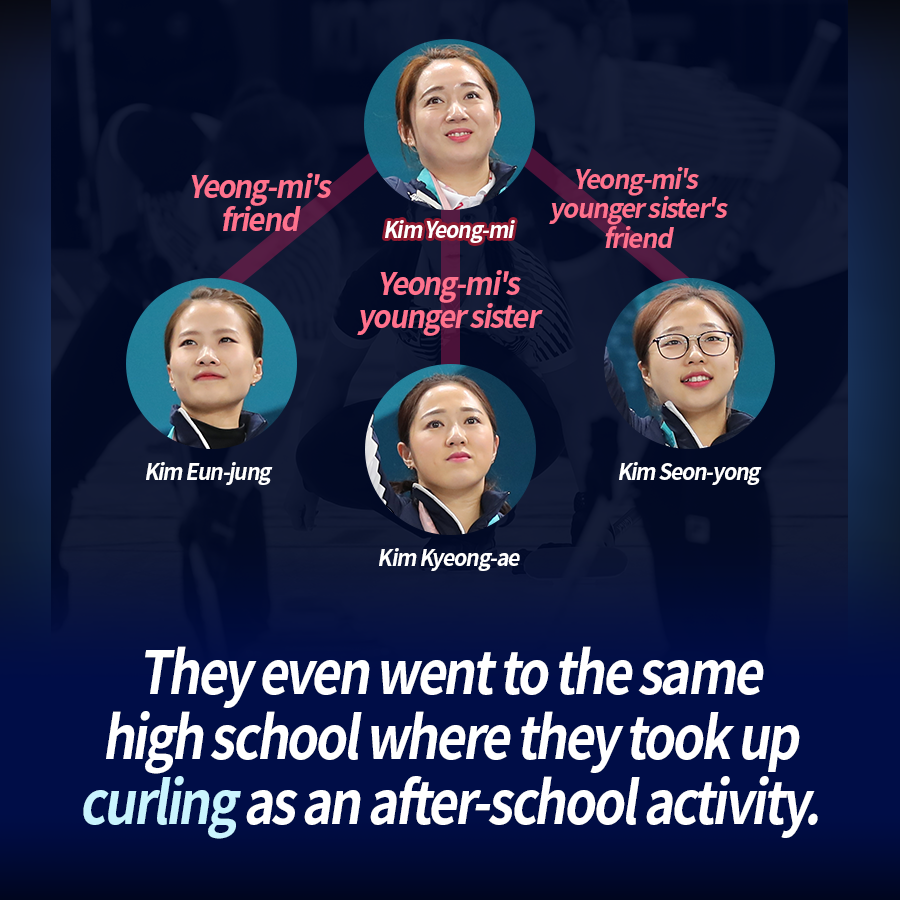 They even went to the same high school where they took up curling as an after-school activity.