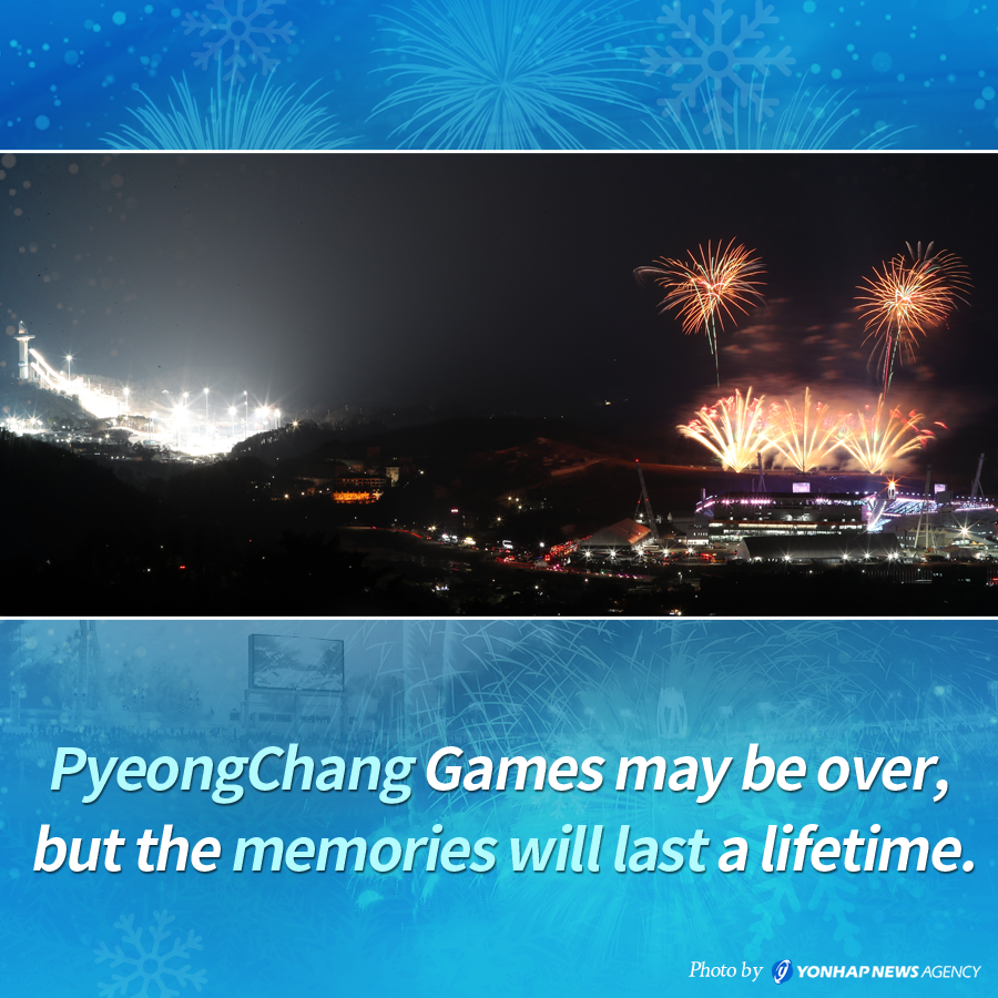 PyeongChang Games may be over, but the memories will last a lifetime.