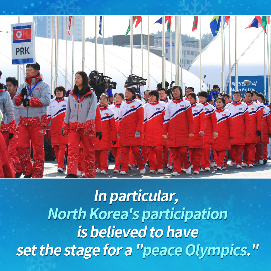 "In particular, North Korea's participation is believed to have set the stage for a ""peace Olympics."""