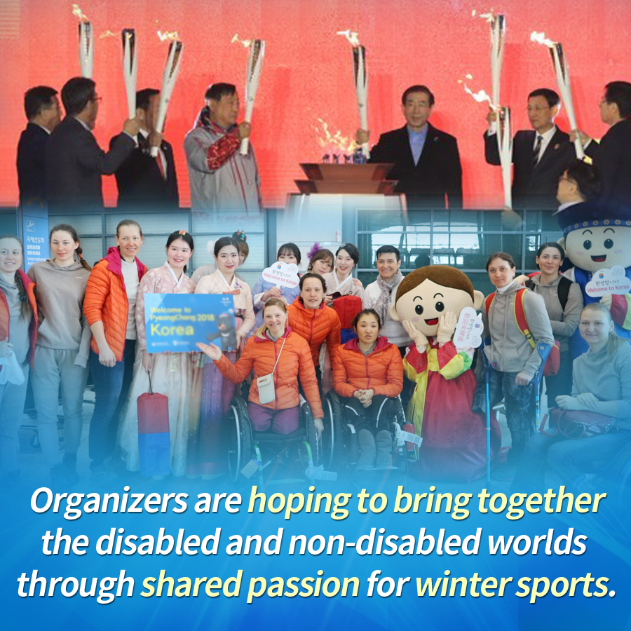 Organizers are hoping to bring together the disabled and non-disabled worlds through shared passion for winter sports.