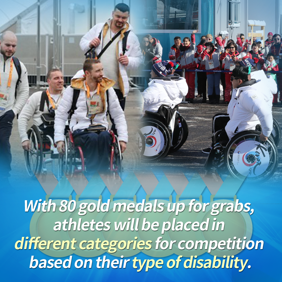 With 80 gold medals up for grabs, athletes will be placed in different categories for competition based on their type of disability.
