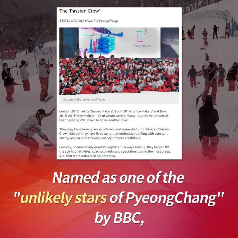"Named as one of the ""unlikely stars of PyeongChang 2018"" by BBC."