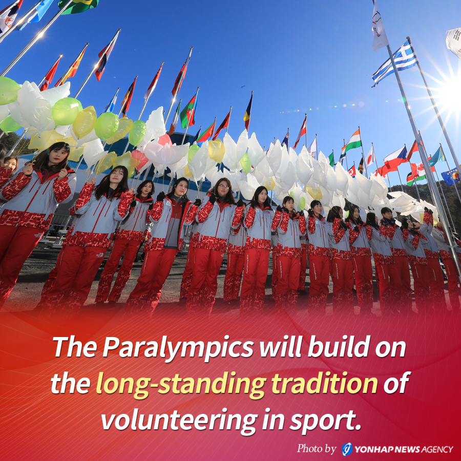The Paralympics will build on the long-standing tradition of volunteering in sport.