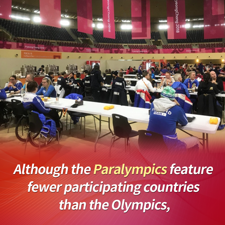 Although the Paralympics feature fewer participating countries than the Olympics,