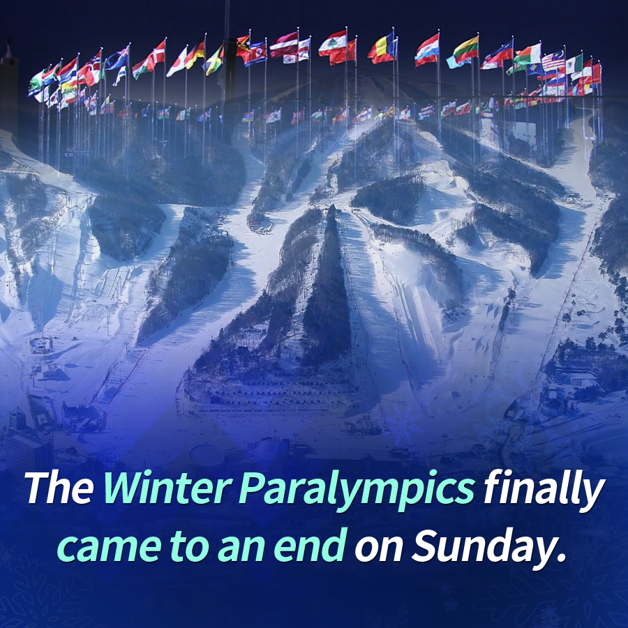 The Winter Paralympics finally came to an end on Sunday.