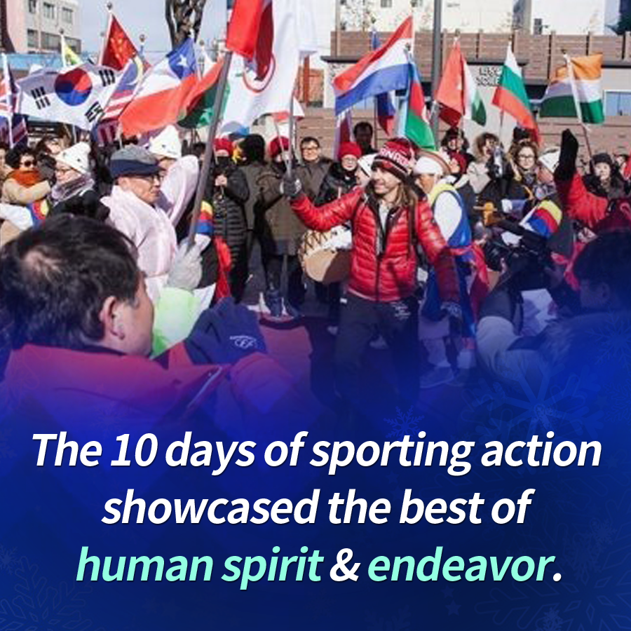 The 10 days of sporting action showcased the best of human spirit & endeavor.