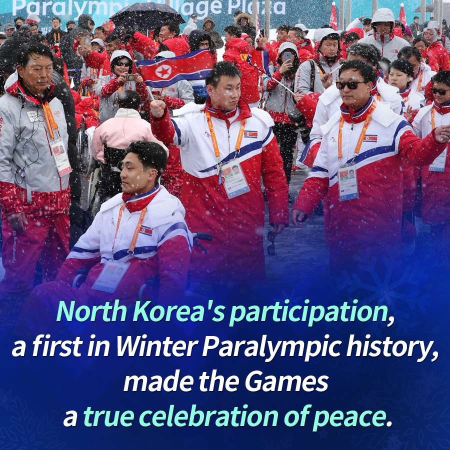 North Korea's participation, a first in Winter Paralympic history, made the Games a true celebration of peace.