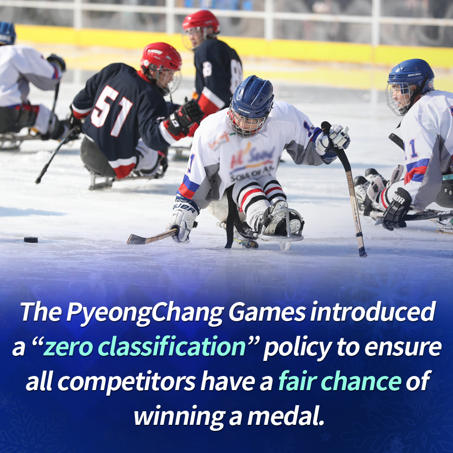 """The PyeongChang Games introduced a """"zero classification"""" policy to ensure all competitors have a fair chance of winning a medal."""