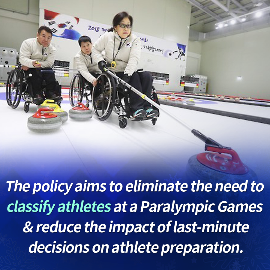 The policy aims to eliminate the need to classify athletes at a Paralympic Games & reduce the impact of last-minute decisions on athlete preparation.