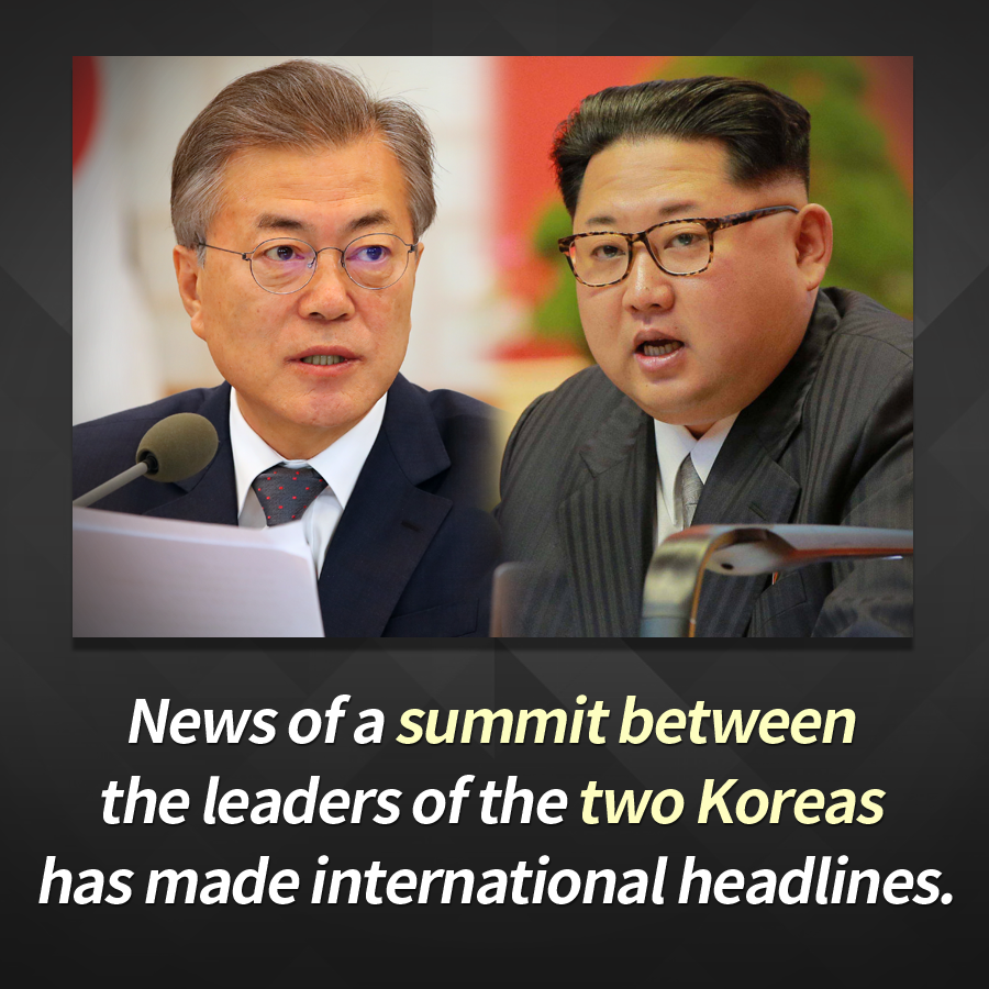 News of a summit between the leaders of the two Koreas has made international headlines.