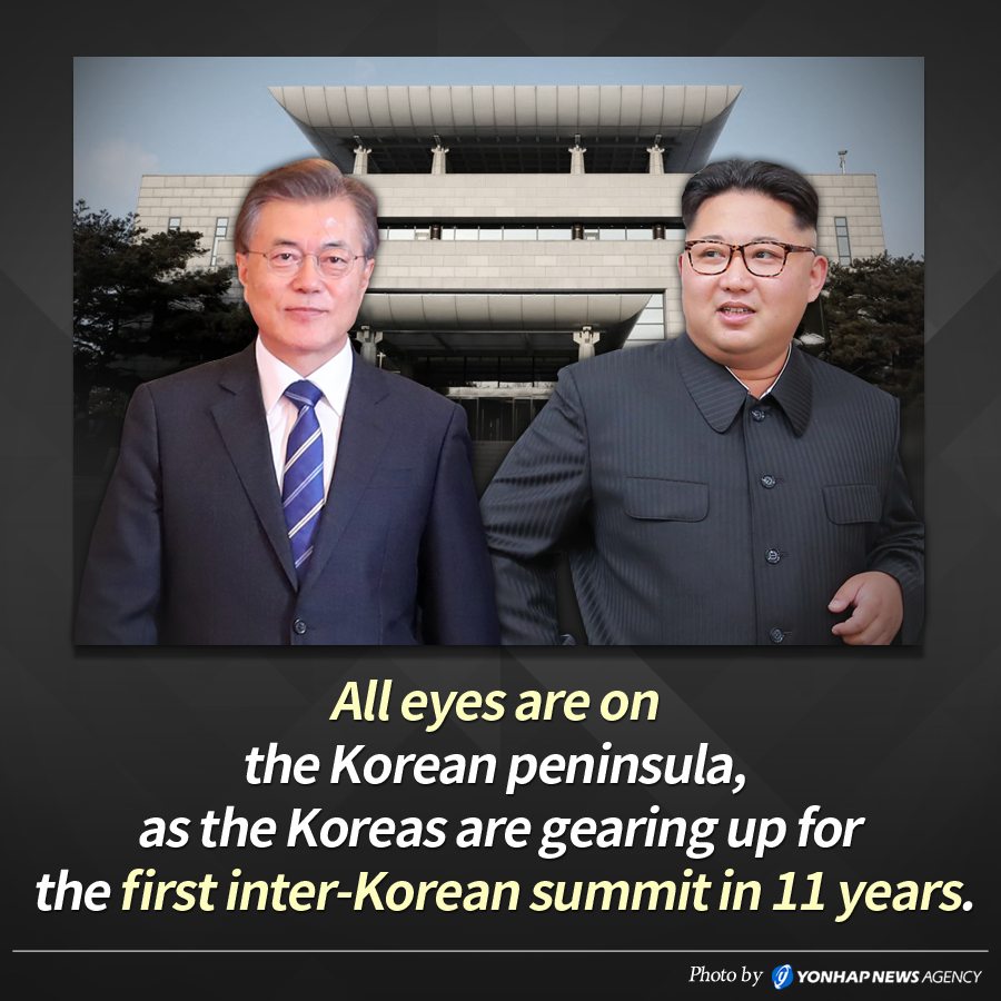 All eyes are on the Korean peninsula, as the Koreas are gearing up for the first inter-Korean summit in 11 years.