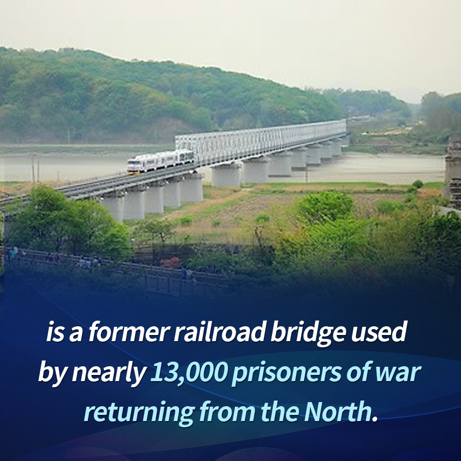is a former railroad bridge used by nearly 13,000 prisoners of war returning from the North.