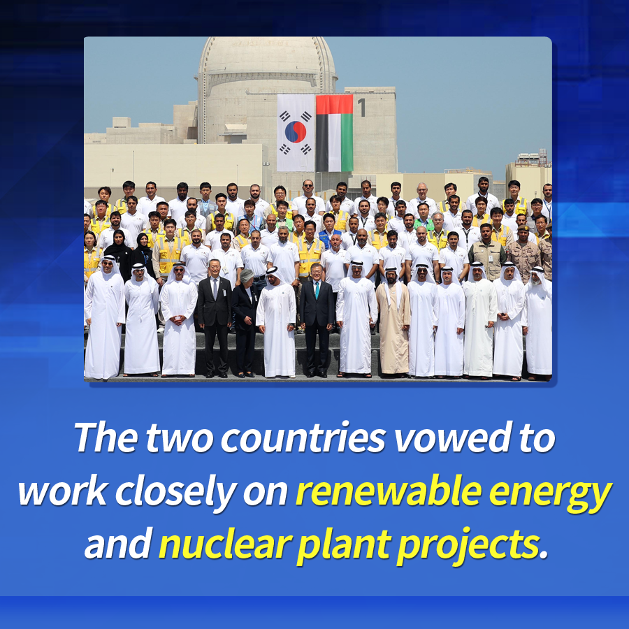 The two countries vowed to work closely on renewable energy and nuclear plant projects.