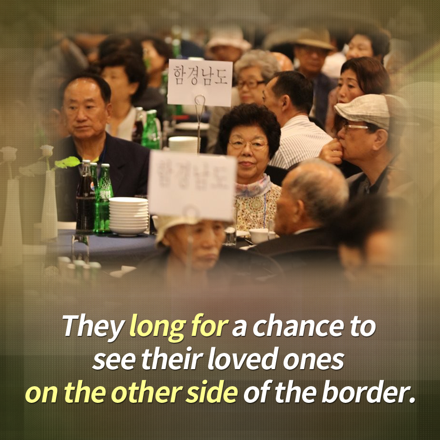 They long for a chance to see their loved ones on the other side of the border.