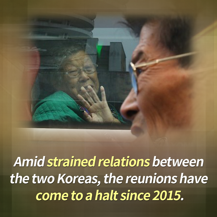 Amid strained relations between the two Koreas, the reunions have come to a halt since 2015.