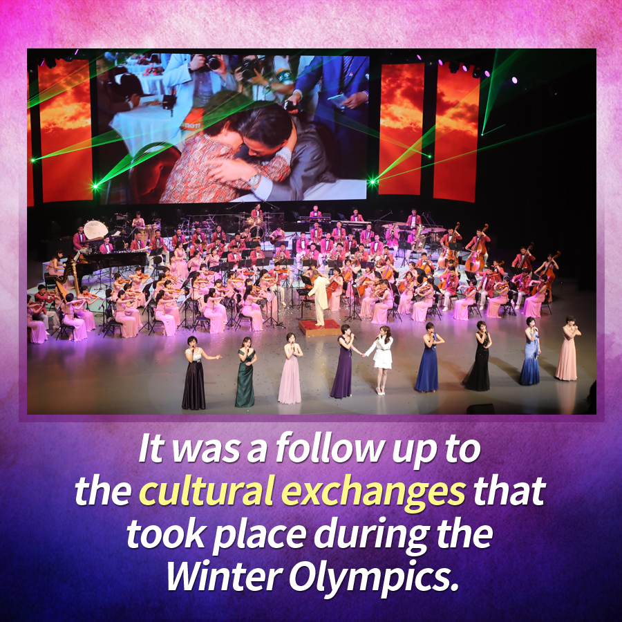 It was a follow up to the cultural exchanges that took place during the Winter Olympics.
