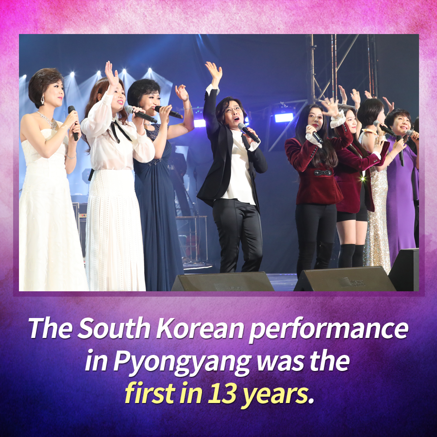 The South Korean performance in Pyongyang was the first in 13 years.