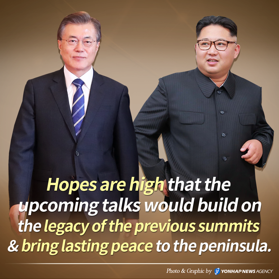 Hopes are high that the upcoming talks would build on the legacy of the previous summits & bring lasting peace to the peninsula.