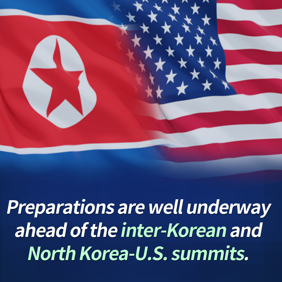 Preparations are well underway ahead of the inter-Korean and North Korea-U.S. summits.