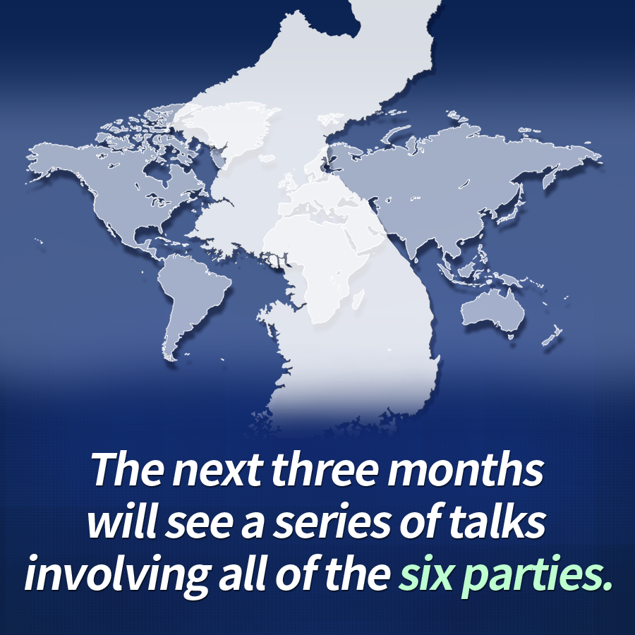The next three months will see a series of talks involving all of the six parties.