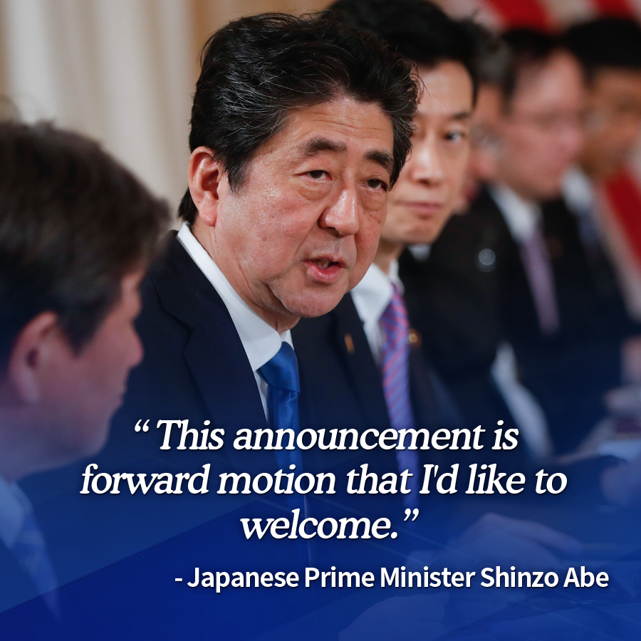 """This announcement is forward motion that I'd like to welcome.""<br>
