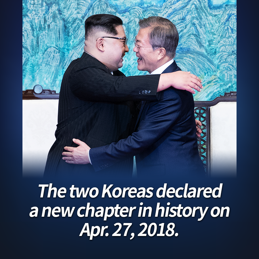 The two Koreas declared a new chapter in history on Apr. 27, 2018.