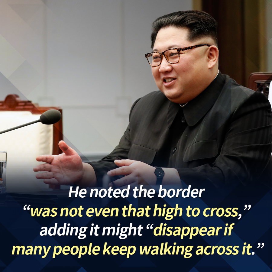 "He noted the border ""was not even that high to cross,"" adding it might ""disappear if many people keep walking across it."""