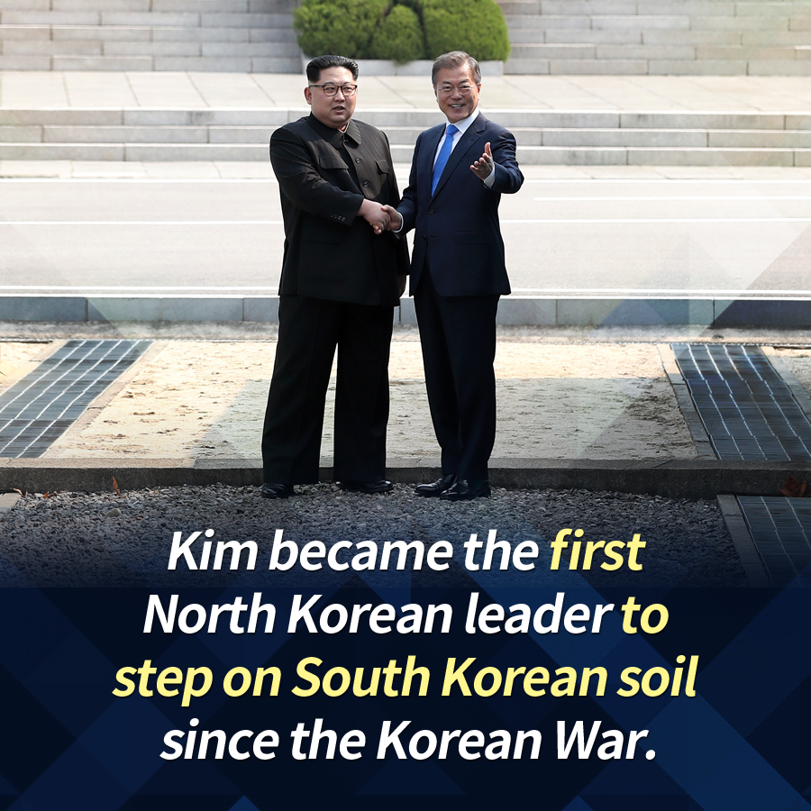 Kim became the first North Korean leader to step on South Korean soil since the Korean War.