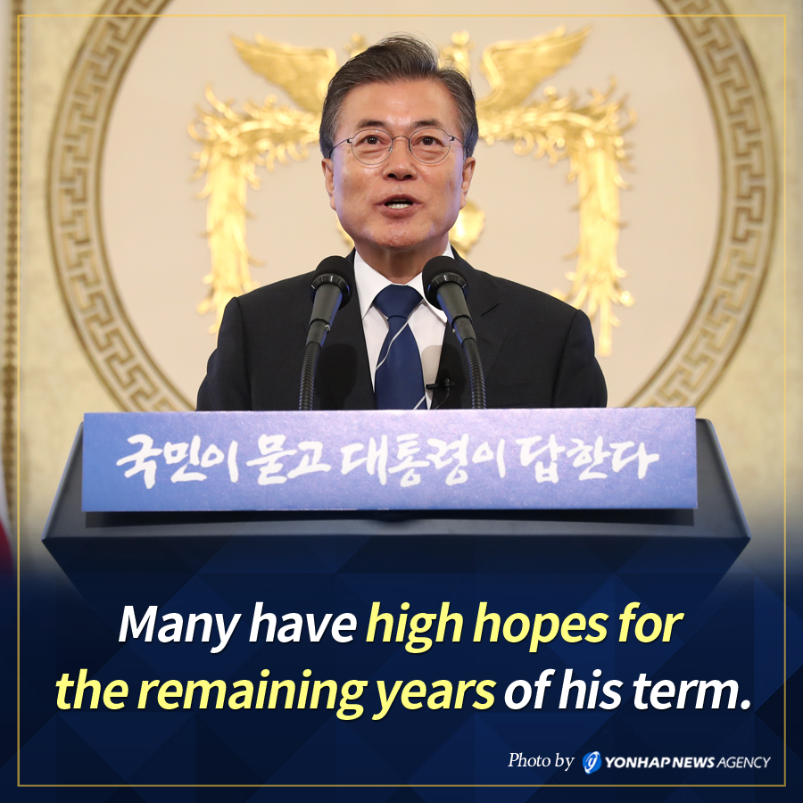 Many have high hopes for the remaining years of his term.